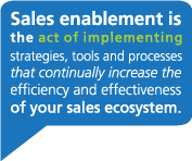 sales enablement definition: implementing