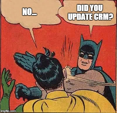 No bonuses unless you keep CRM updated!
