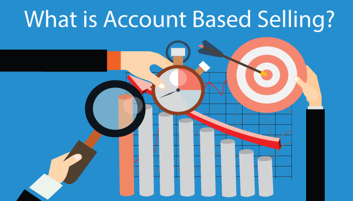 account based selling on line chart