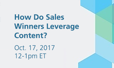 Find out how sales can successfully leverage content in this SiriusDecisions webinar