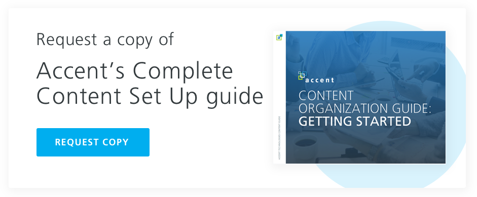request your copy of Accents content set up guide